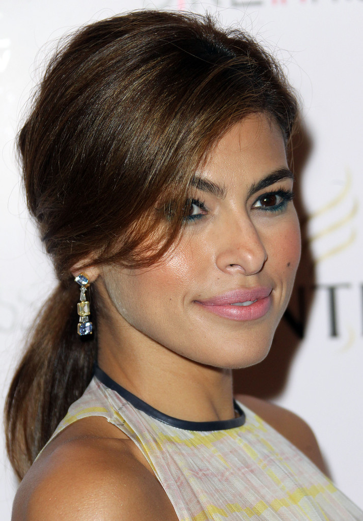 "Actress Eva Mendes attends the Screening of ""Girl In Progress"" at the Directors Guild of America on May 2, 2012 in Los Angeles, California."