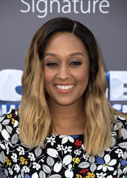 Tia Mowry wore her tresses in ombre waves at the screening of 'Ice Age: Collision Course.'
