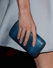 Kate Bosworth stuck to a cool electric blue clutch at the 'Black Rock' screening.