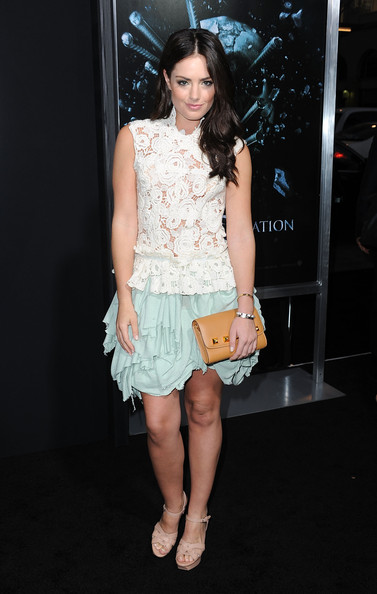 Beau donned a sheer white lacy top with a mint blue layered skirt for the screening