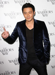 Jang rocks a quilted blue blazer to the screening of 'The Warrior's Way.'