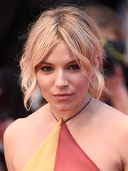 Sienna Miller was rocker-chic with her messy center-parted updo at the 'Sea of Trees' premiere in Cannes.