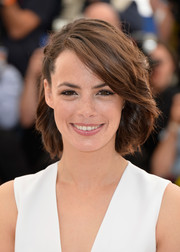 Berenice Bejo looked cute with her half-pinned bob at the Cannes Film Festival photocall for 'The Search.'