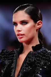 Sara Sampaio styled her hair into a sleek braid for the Venice Film Festival screening of 'Seberg.'