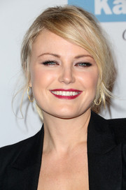 Malin Akerman was a smoldering beauty with this messy-chic ponytail at the Baby2Baby Gala.