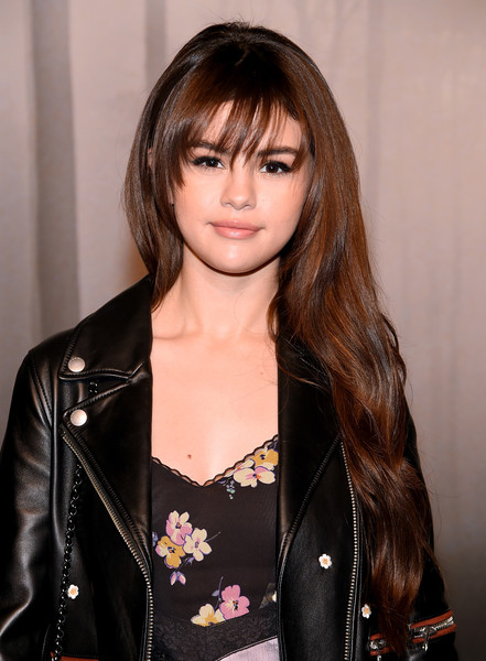 Selena Gomez Long Wavy Cut with Bangs