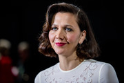 Maggie Gyllenhaal attended the Self-Portrait fashion show wearing a vintage-inspired bob.