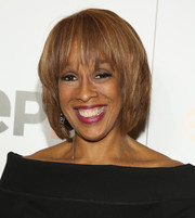 Gayle King looked stylish with her textured bob at the New York premiere of 'Serena.'