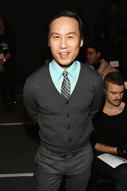 A simple cardigan completed B.D. Wong's look at the Sergio Davila runway show.