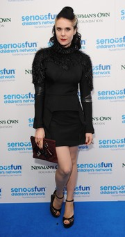 Kate Nash was equal parts futuristic and fun in this fur-embellished LBD during the SeriousFun London Gala.