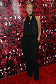 Tonya Lewis Lee looked oh-so-stylish in a halterneck jumpsuit during the Broadway opening of 'Shakespeare's Romeo and Juliet.'