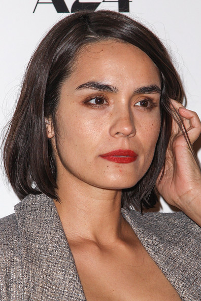 Shannyn Sossamon Bob [a glimpse inside the mind of charles swan iii,eyebrow,beauty,chin,fashion model,hairstyle,forehead,lip,brown hair,long hair,neck,arrivals,shannyn sossamon,arclight hollywood,california,a24,premiere,premiere]