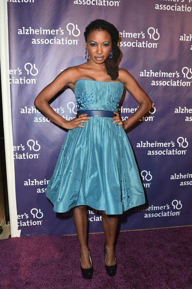 Shanola Hampton Strapless Dress