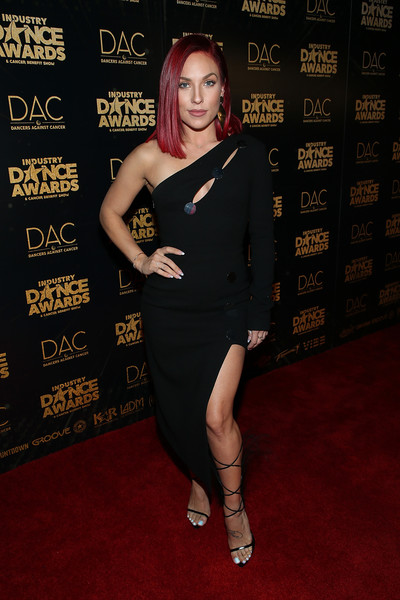 Sharna Burgess Cutout Dress [clothing,dress,shoulder,red carpet,carpet,little black dress,cocktail dress,premiere,joint,fashion,arrivals,sharna burgess,industry dance awards,2018 industry dance awards,avalon hollywood,los angeles,california]