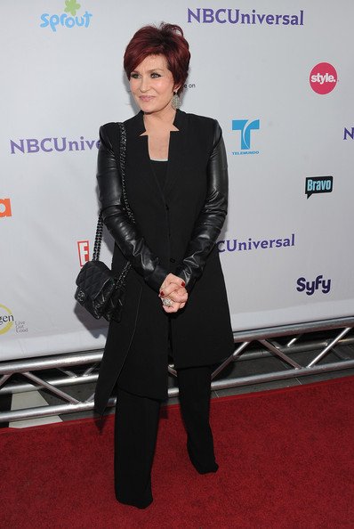 Sharon Osbourne Wool Coat [clothing,carpet,red carpet,premiere,suit,flooring,outerwear,event,formal wear,pantsuit,sharon osbourne,california,los angeles,sls hotel,nbc universal,tca 2011 press tour all-star party - arrivals]