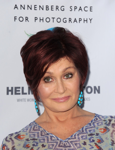 Sharon Osbourne Short Straight Cut