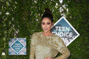 Shay Mitchell Metallic Clutch