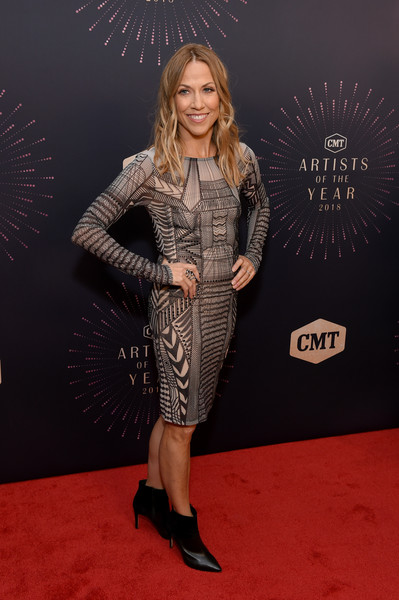 Sheryl Crow Ankle Boots [red carpet,carpet,clothing,premiere,fashion,flooring,footwear,dress,event,shoe,red carpet,cmt artists of the year,sheryl crow,nashville,tennessee,schermerhorn symphony center,cmt artists of the year]