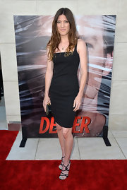 Jennifer sported a classic sleeveless LBD to the 'Dexter' celebration in Hollywood.