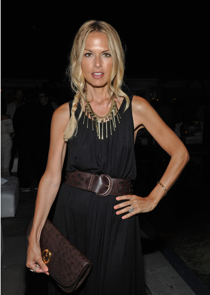 Rachel Zoe gave her premiere look an exotic tribal edge with a spiked gold statement necklace.