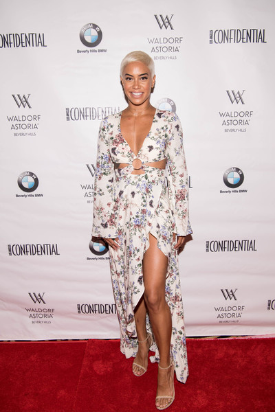 Sibley Scoles Cutout Dress [red carpet,white,clothing,fashion model,carpet,hairstyle,dress,fashion,fashion design,footwear,los angeles confidential women of influence tea,neve campbell,sibley scoles,tea,tv personality,waldorf astoria beverly hills,california]