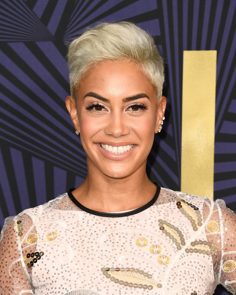 Sibley Scoles Fauxhawk [bet presents the american black film festival honors - arrivals,hair,face,hairstyle,eyebrow,blond,head,beauty,forehead,chin,fashion,sibley scoles,tv personality,beverly hills,california]