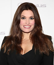 Kimberly Guilfoyle styled her lush locks in a simple center part for the 'Silver Linings Playbook' premiere.