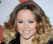 Kimberley Walsh looked very feminine with her voluminous curls at the Health Lottery fundraising event.
