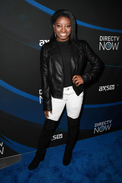 Simone Biles Leather Jacket