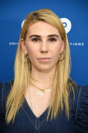 Zosia Mamet looked stylish with her sleek layered cut at the premiere of 'The Sinner.'