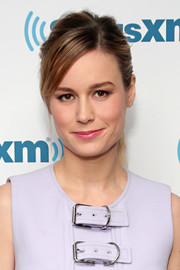 Brie Larson sported a cool messy ponytail while attending SiriusXM's 'Town Hall.'