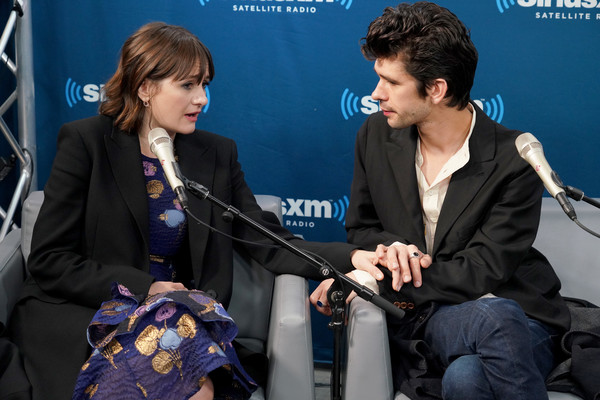 More Pics of Emily Mortimer Pumps (3 of 33) - Heels Lookbook - StyleBistro [town hall with the cast of mary poppins returns,event,conversation,interaction,interview,performance,convention,spokesperson,news conference,ben whishaw,emily mortimer,new york city,siriusxm]