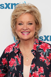 Christine Ebersole visited the SiriusXM Studios wearing a tousled short 'do.