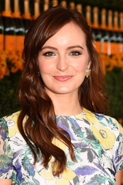 Ahna O'Reilly looked oh-so-sweet with her long waves at the Veuve Clicquot Polo Classic.