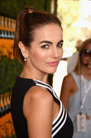 Camilla Belle swept her locks up into a high pony for the Veuve Clicquot Polo Classic.