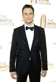 That satin trim gave Cheyenne Jackson's black tux a lot of class.