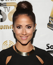 Jackie Guerrido chose a high, twisted bun for the Social TV Awards.