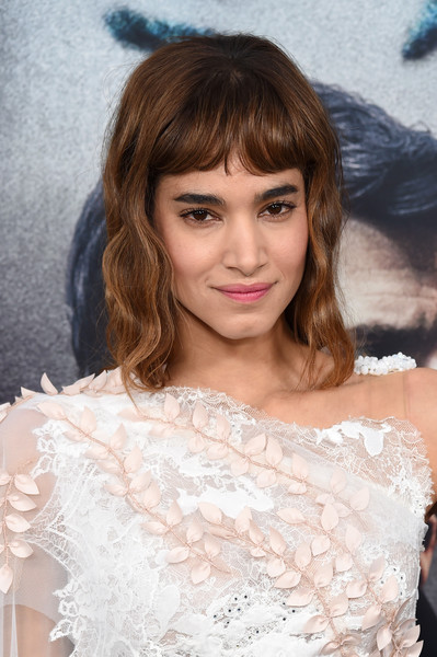 Sofia Boutella Long Wavy Cut with Bangs