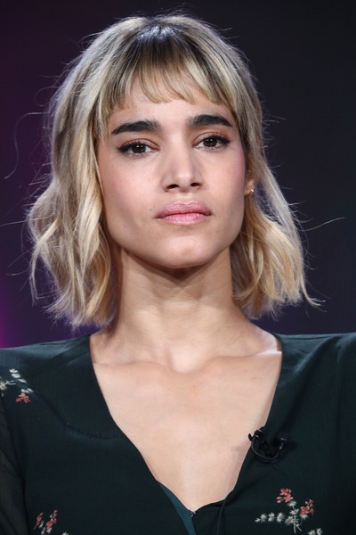 Sofia Boutella Short Wavy Cut [fahrenheit 451,hair,face,hairstyle,blond,eyebrow,chin,beauty,fashion,layered hair,long hair,sofia boutella,pasadena,california,winter tca,hbo,the langham huntington,portion,winter television critics association press tour]