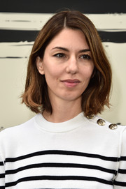 Sofia Coppola opted for a simple bob when she attended the Sonia Rykiel fashion show.