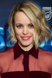 Rachel McAdams looked darling with her short wavy 'do at the New York screening of 'Sonic Sea.'