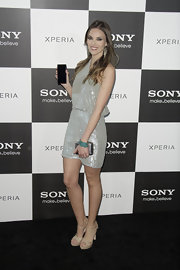 Helen Lindes opted for this sequined cocktail dress while out at the Sony Xperia premiere in Madrid.