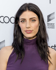 Jessica Pare attended the Sony Pictures Social Soiree wearing a slightly messy center-parted 'do.