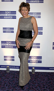 Kate Silverton was the epitome of sophistication in a floor-length patterned number as she graced the Sony Radio Academy Awards.