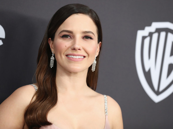 Sophia Bush Long Wavy Cut [hair,face,eyebrow,hairstyle,beauty,skin,chin,lip,smile,cheek,sophia bush,beverly hills,california,the beverly hilton hotel,instyle,golden globes,warner bros.,arrivals,party]