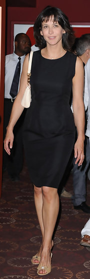 Sophie Marceau's little black dress was a clean-cut, classic dress choice.