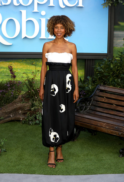 Sophie Okonedo Strapless Dress