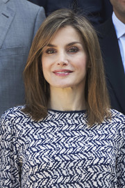 Queen Letizia of Spain sported a simple straight cut while attending audiences at Zarzuela Palace.
