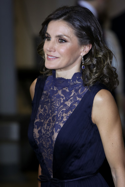 More Pics of Queen Letizia of Spain Cocktail Dress (1 of 17) - Queen Letizia of Spain Lookbook - StyleBistro [constitution,hair,lady,beauty,fashion,dress,hairstyle,shoulder,haute couture,neck,fashion design,letizia,spanish,spain,madrid,auditorio nacional,spanish royals attend a concert to commemorate the 40th anniversary,concert]