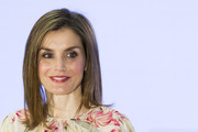 Queen Letizia of Spain showed off a sleek straight 'do at the Iberdrola Foundation Scholarships event.